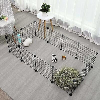 Pet Playpen Small Animal Cage Indoor Portable Metal Wire Yard Fence Organizer