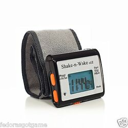 Silent Vibrating Alarm Clock Personal Shake N Wake Wrist Watch Digital LED Black