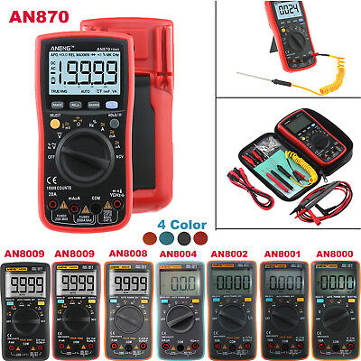 An8009 True-rms Auto Range Digital Multimeter Ncv Ohmmeter Acdc Voltage Meter