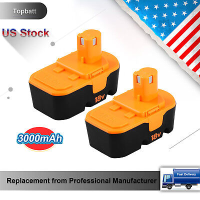 2Pack 18V 3 0Ah Ni Mh Replacement Battery For Ryobi One Plus P100 P101 Abp1801