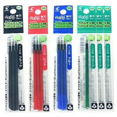 Pilot Gel Ink Refills For Frixion Ball 4 Gel Ink Multi Pen 0.5mm Blackblue...