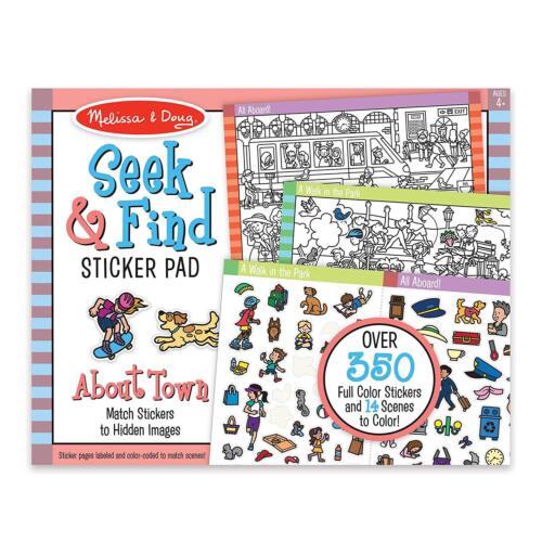 Melissa & Doug Seek and Find Sticker Pad Around Town #30150