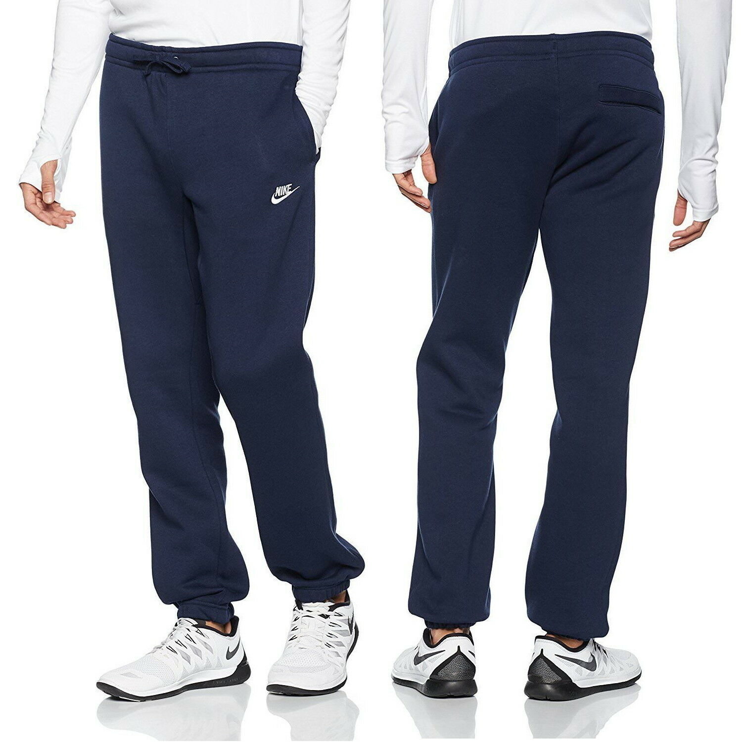 1b3b76a7ec7c Details about Nike Club Men s Tracksuit Bottoms Fleece Casual Track Trousers  Navy
