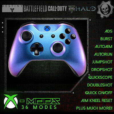 XBOX ONE RAPID FIRE CONTROLLER - Blue Pearl Blackout - BEST MOD ON EBAY!