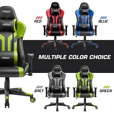 Gaming Chair Office 180 Recliner Racing Style Computer Seat Swivel Desk Chair