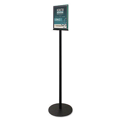 Deflecto Double-sided Magnetic Sign Stand 8 12 X 11 Insert 56 High Clearblack