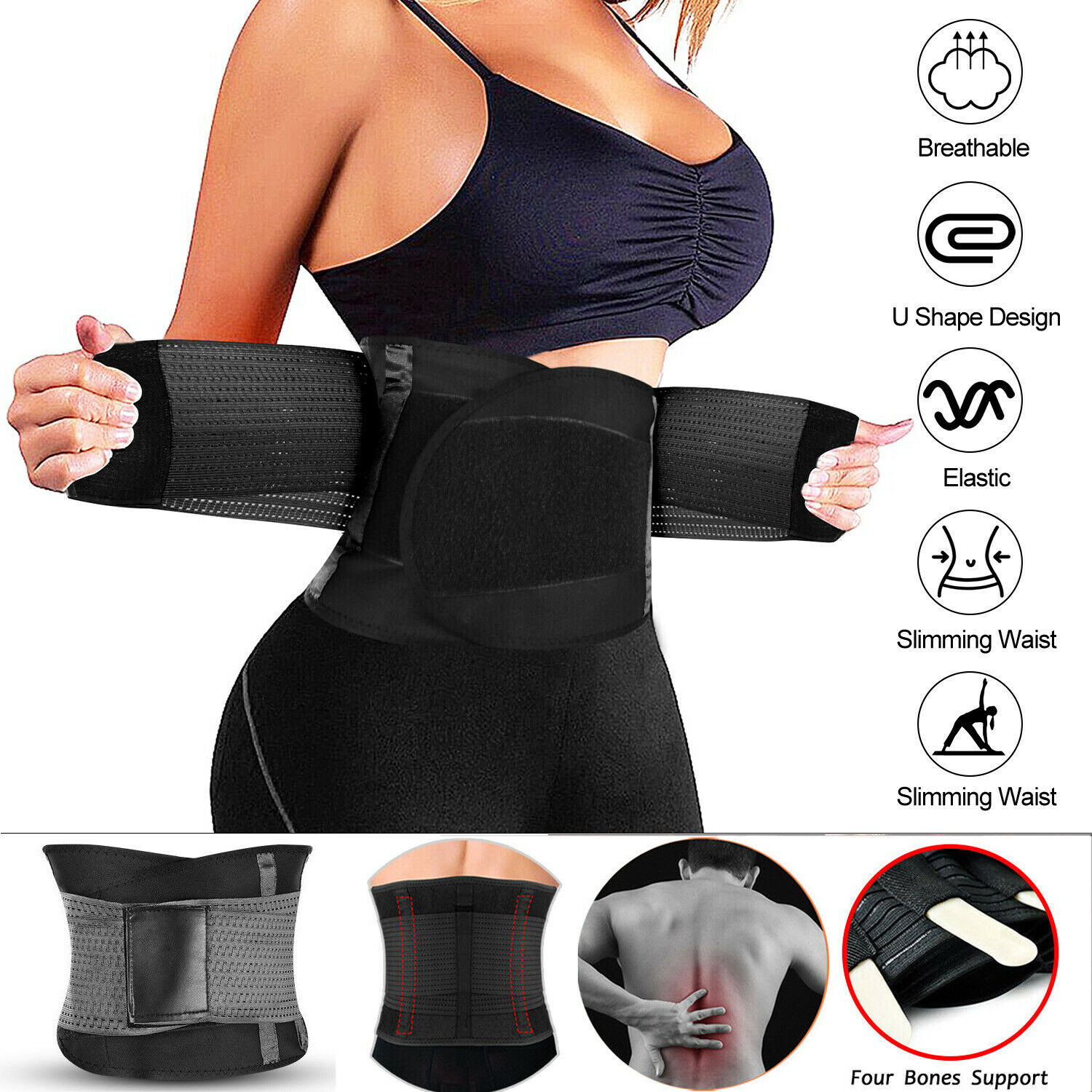 Corset Waist Trainer Shaper Body Control Shapewear Weight Loss Tummy Belt Women Clothing, Shoes & Accessories