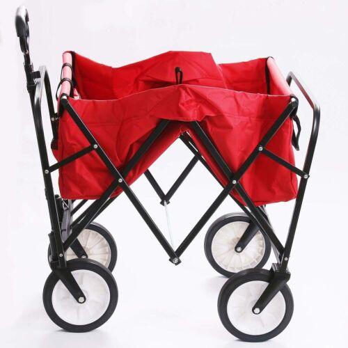 Collapsible Beach Utility Wagon Cart Kid Storage Camping Fol