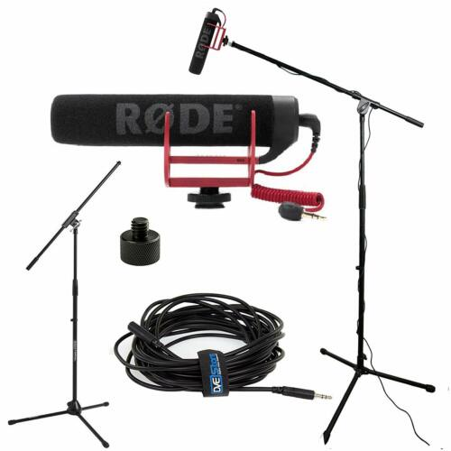 RODE VideoMic GO Studio Boom Kit - VideoMic GO, Boom Stand, Adapter and Cable