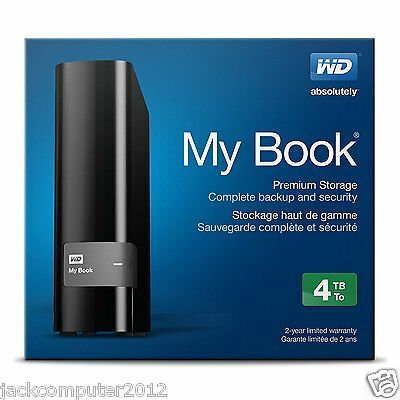 """Brand New WD My Book 4TB 3.5"""" Desktop External Hard Drive USB3.0 4 TB HDD"""