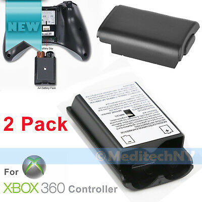 2PCS AA Battery Back Cover Case Shell Pack For Xbox 360 Wireless Controller USA for sale  Shipping to India