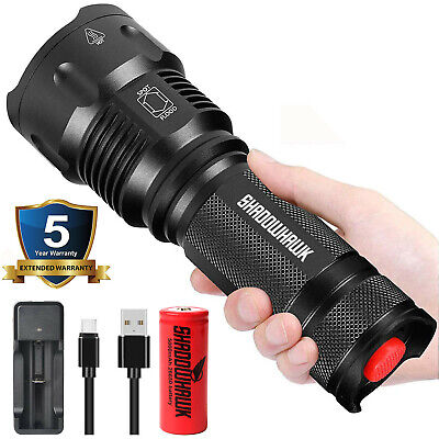 Super bright 80000lm USB Rechargeable Flashlight Shadowhawk Tactical Flashlight
