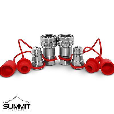 12 Ag Hydraulic Quick Connect Couplers Couplings Poppet Pioneer Style 2 Sets