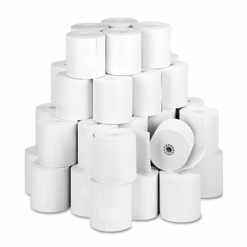 """Iconex Direct Thermal Printing Thermal Paper Rolls 3.13"""" x 273 ft White 90781277"""