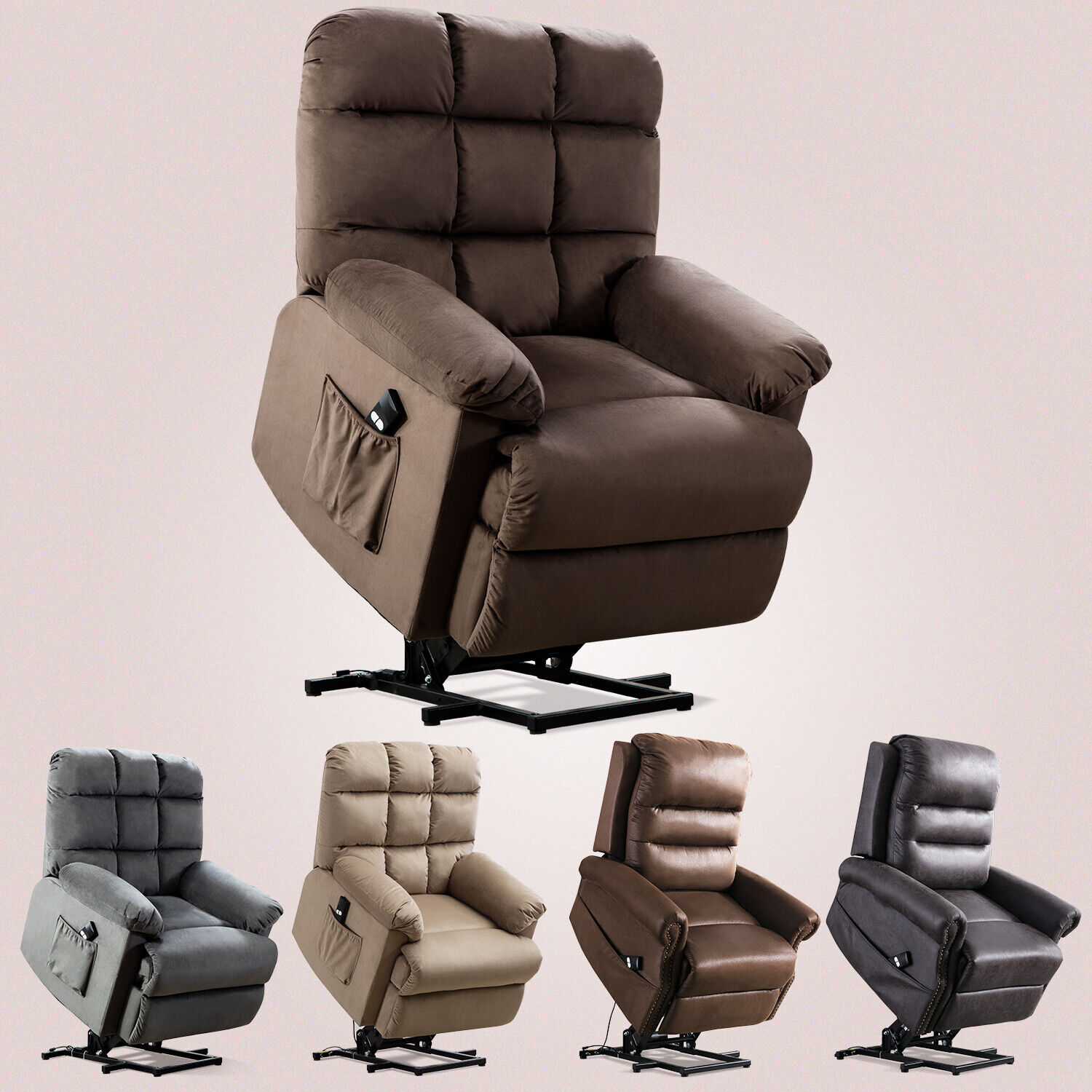 Power Lift Recliner Chair For Elderly Living Room Reclining