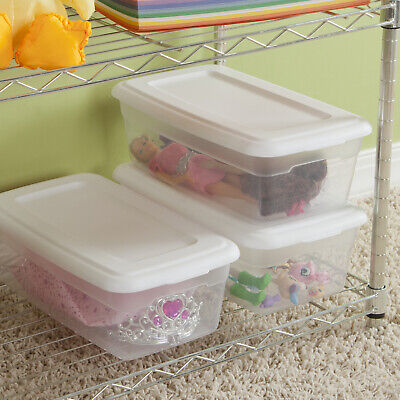 36 PACK Sterilite Storage Box 6 Quart Container Case Clear Stackable Plastic Lid](Clear Storage Boxes)