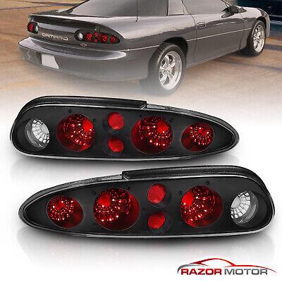 [Altezza Style] 1993-2002 Chevy Camaro Black Smoke Lens Brake Tail Lights Pair