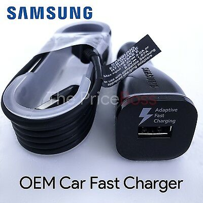 New Oem Samsung Galaxy Note 4 S4 S6 Edge Fast Rapid Car Charger Black W  Cable
