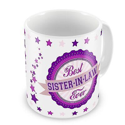 Best Sister-In-Law Ever Novelty Gift Mug - Pink /