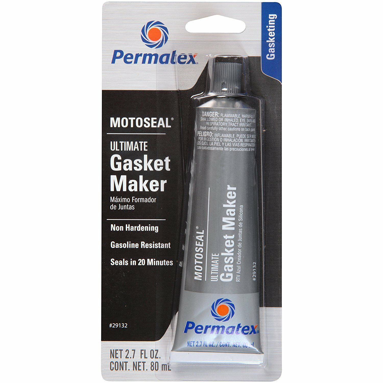 3-DAY SALE! Permatex 29132 MotoSeal 1 Ultimate Gasket Maker GREY 2.7 oz