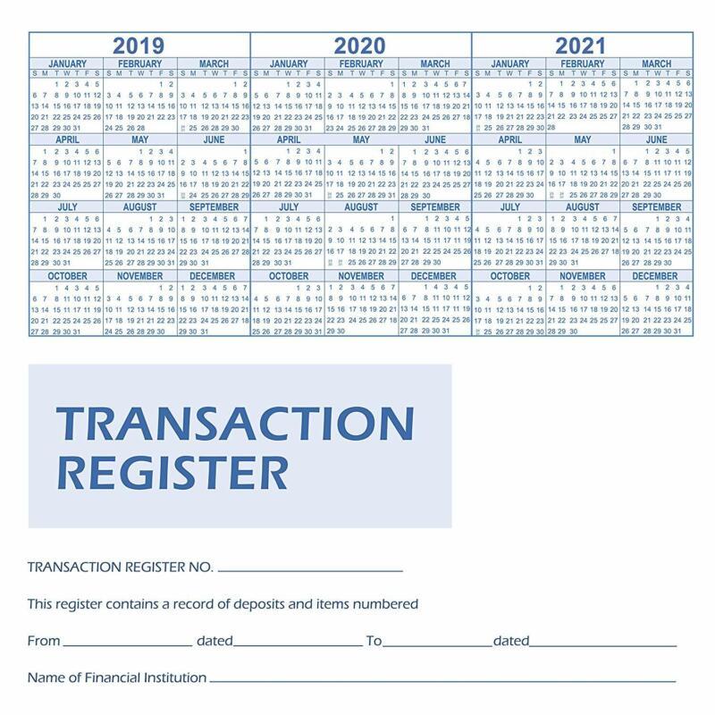 ShipGuard 12 Check registers for personal checkbook - Checkb
