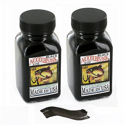 Noodler's Black Waterproof Fountain Pen Ink - Bulletproof,3 ounce - Pack of 2