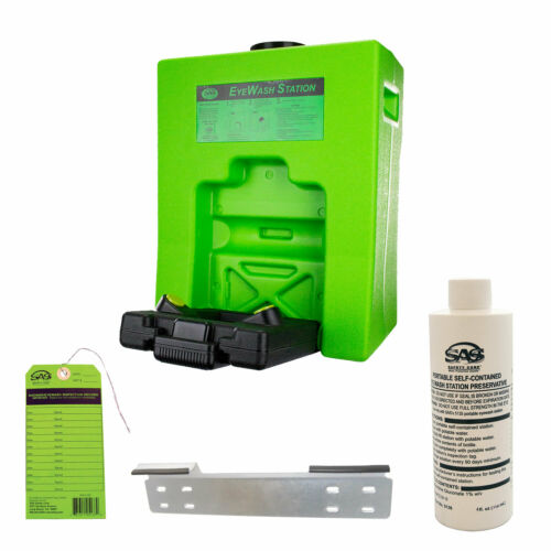 Emergency 9 Gal Eye Wash Safety Station SAS 5134. OSHA Compliant.