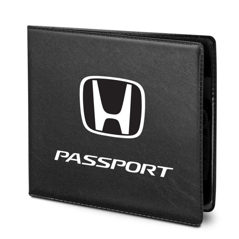 Honda Passport Car Auto Insurance Registration Black PVC Document Holder Wallet
