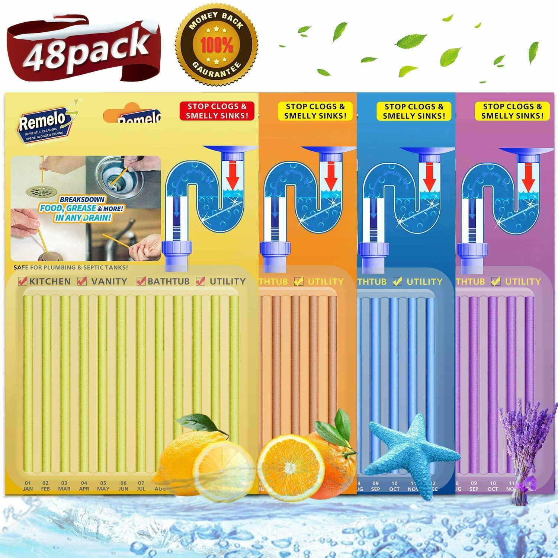 Drain Cleaner Sticks Sani Sticks Drains Pipes Clean Odor Free Kitchen Bathroom