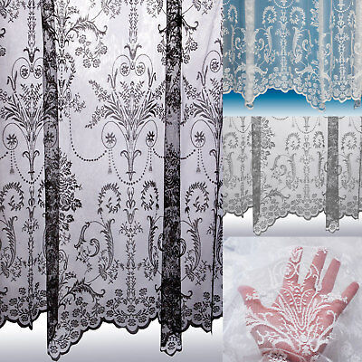 curtains - Victoria Net Curtains ~ Boutique Damask Design ~ Sold By The Metre ~ Lace Voile