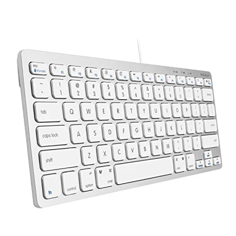 Macally Slim USB Wired Small Compact Mini Computer Keyboard