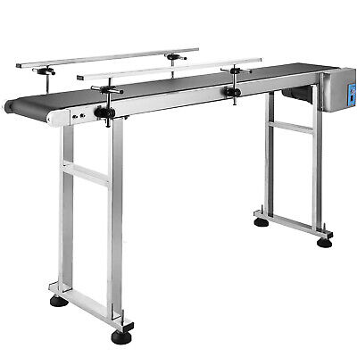 59x 7.8 Pvc Belt Conveyor Machine With Stainless Steel Double Guardrail