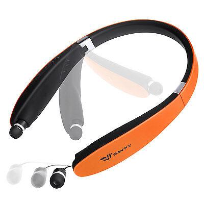 Retractable Stereo Headphones (Wireless Bluetooth V4.1 Foldable&Retractable Headphones Stereo Earbuds )
