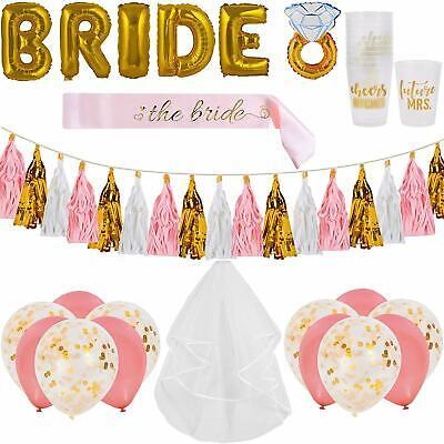 Bachelorette Party Decorations Kit | Bridal Shower Supplies - Bride to Be Sash](Bridal Shower Decoration Kit)