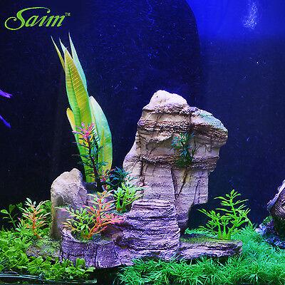 Landscape Decor Underwater Aquarium Fish Tank Ornament Resin Rockery Stone