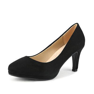 DREAM PAIRS Women CITY_CT Classic Elegant Low  Heel Party Dress Pumps Shoes