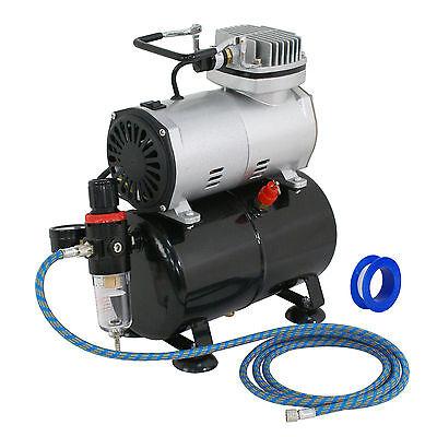 Powerful Airbrush Pro High Performance Compressor w/3L Air Tank Maintenance Free Airbrushing Supplies