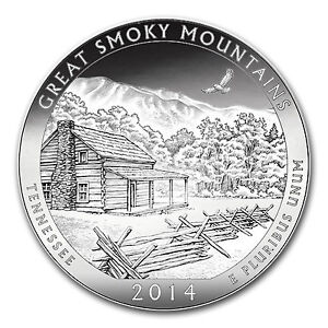 2014 5 oz Silver ATB Great Smoky Mountains National Park, TN - PRESALE
