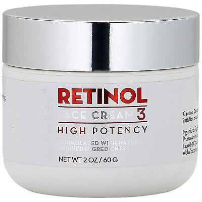 Retinol Cream For Face & Eye 3% Blend | Natural Anti Aging w/ Jojoba Oil, Apr...