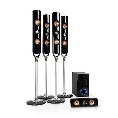 5.1 Surround System Heimkino Home Cinema Stereoanlage 120W Lautsprecher Boxen