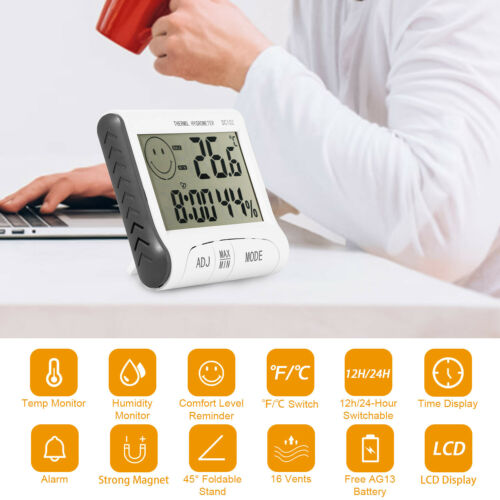 ThermoPro Digital LCD Indoor Thermometer Hygrometer Temperat