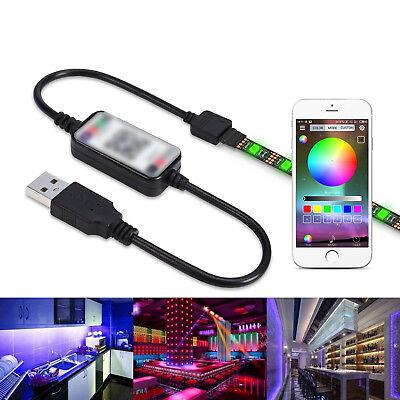 Bluetooth USB Cable Controlador Para RGB LED Tira Luz Smart Phone App...