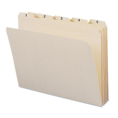 Smead Indexed File Folders 15 Cut Indexed 1-31 Top Tab Letter Manila 31set