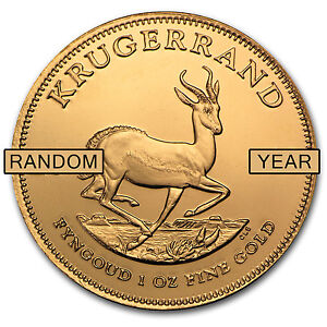 1 oz Gold South African Krugerrand Coin - Random Year Coin - SKU #62