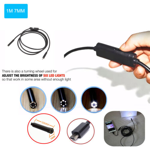 6LED 5M Android Endoscope Waterproof Borescope Micro USB Ins