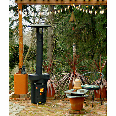 Q Stoves Q Flame Q05 Outdoor Portable Wood Pellet Gravity Fed Heater, Black