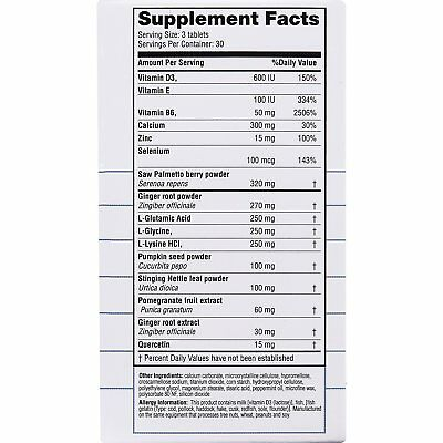 Real Health Laboratories Prostate Formula 30 Day Supply, 90 Count 3