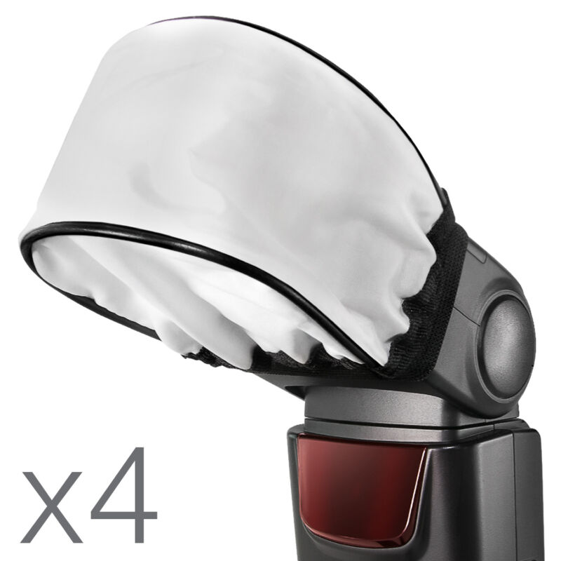4x Universal Flash Diffuser Softbox for Speedlite Canon Nikon Sony Yongnuo