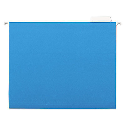 Universal Hanging File Folders 15 Tab 11 Point Stock Letter Blue 25box 14116