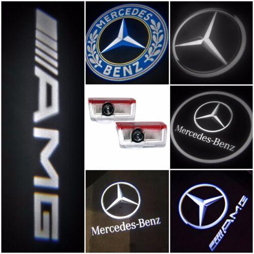 Car Parts - 2/4 MERCEDES BENZ PROJECTOR CAR DOOR LED LIGHTS PUDDLE GHOST LASER COURTESY LOGO